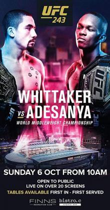 UFC 243 Whittaker vs Adesanya (2019)